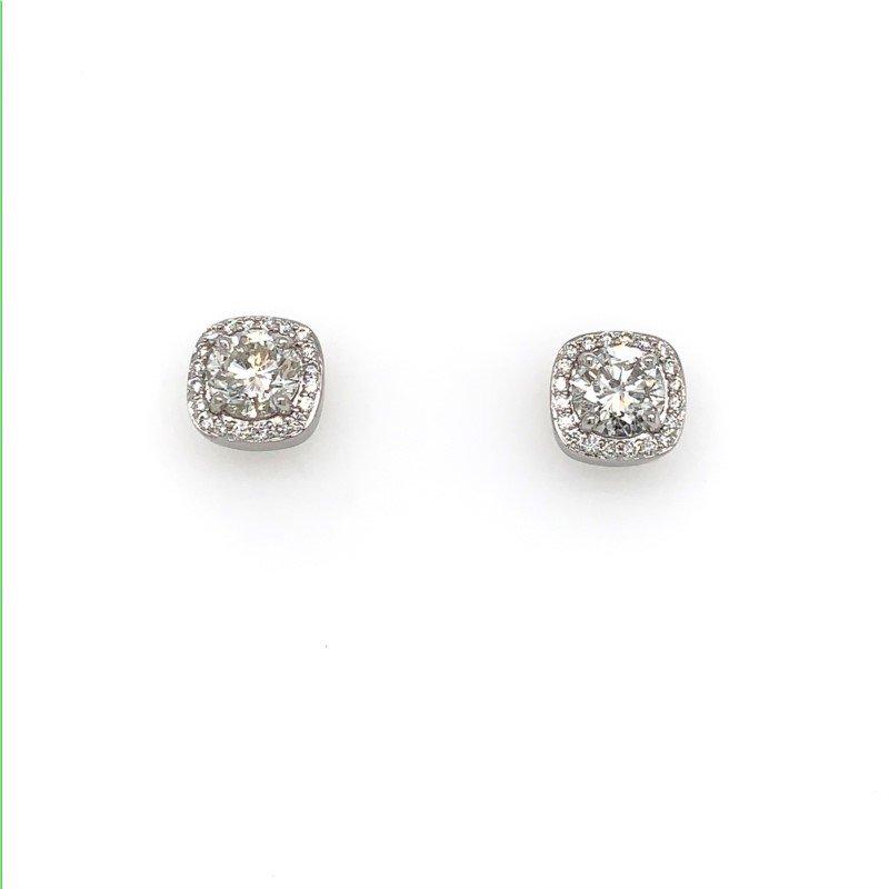 Moses Signature Diamond Halo Earrings