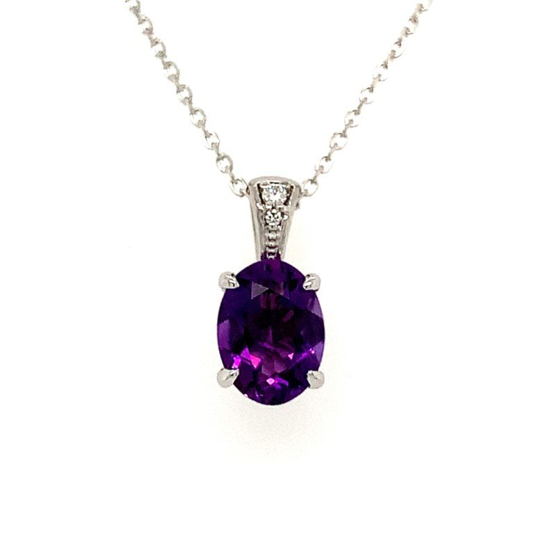 Moses Signature Amethyst Necklace