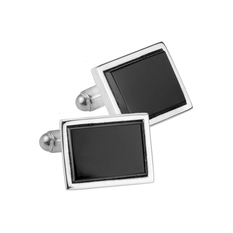Wear-EVERY-Where Sterling Silver Onyx Cufflinks