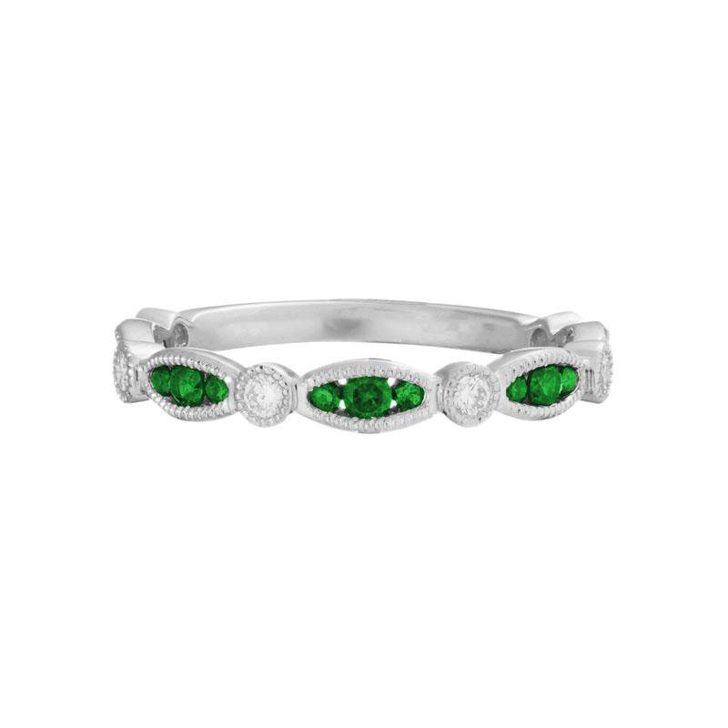 Wear-EVERY-Where Stackable Emerald Ring
