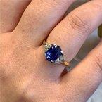 Moses Signature Unheated Sapphire Ring
