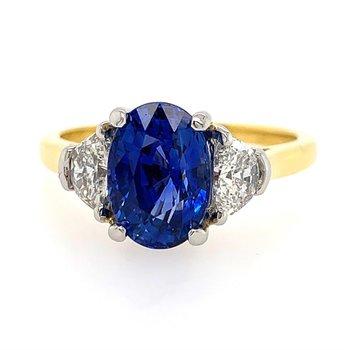 Unheated Sapphire Ring