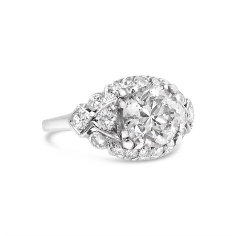 Signature Estate Art Deco Engagement Ring