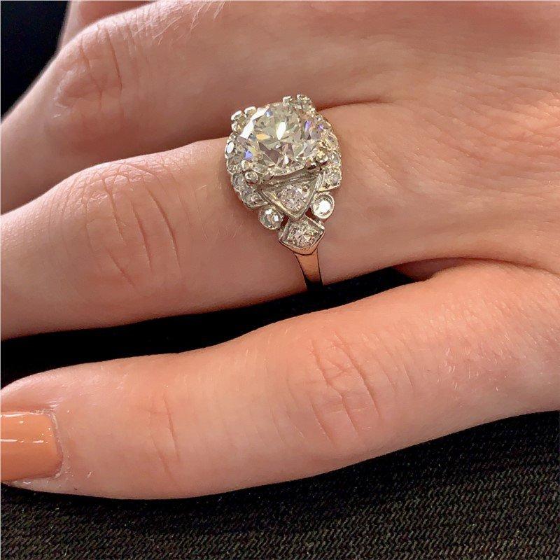 Signature Estate Authentic Art Deco Engagement Ring