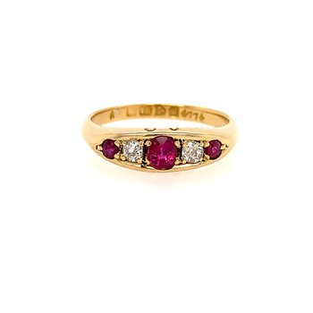 English Victorian Ruby Ring