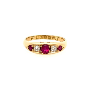 English Victorian Ruby Ring
