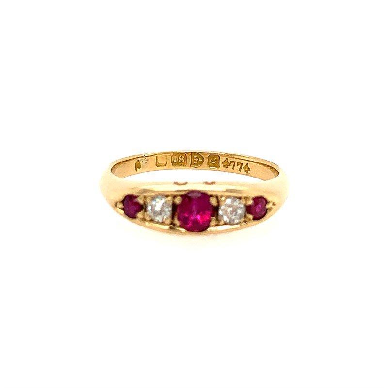 Signature Estate English Victorian Ruby Ring