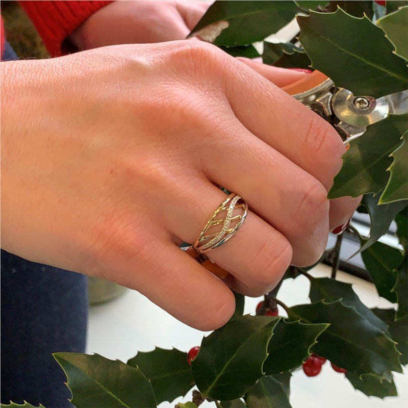 Wear-EVERY-Where Two Tone Wave Ring