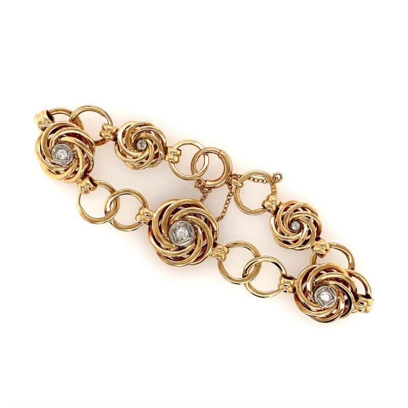 Signature Estate Floral Circle Diamond Bracelet