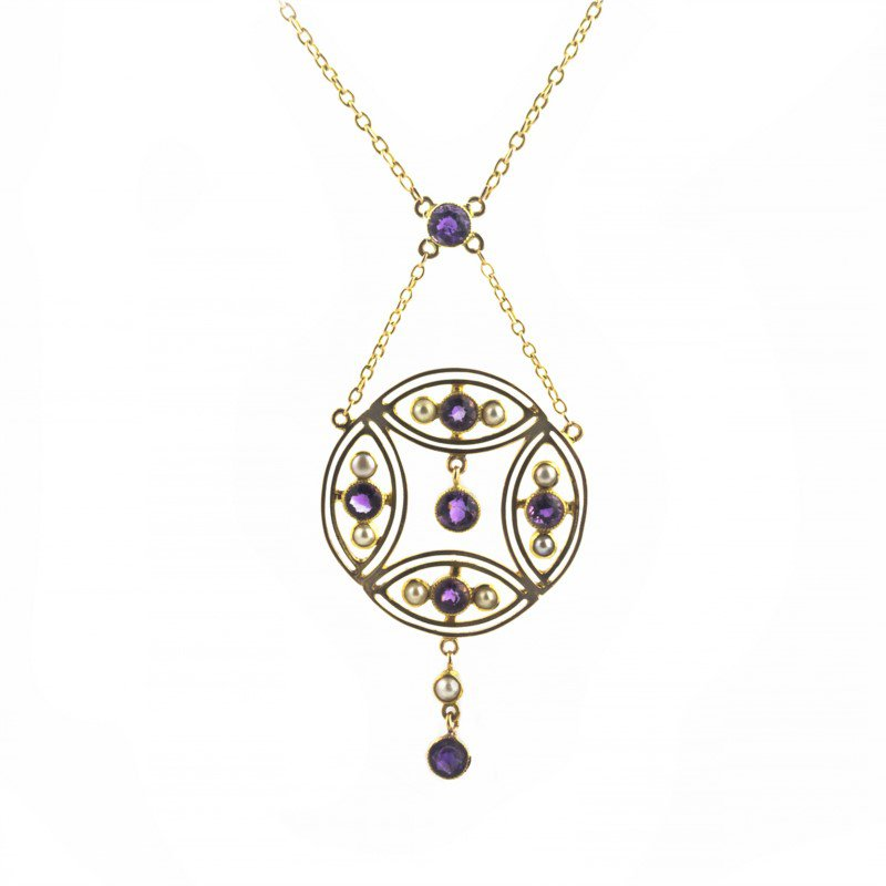 Signature Estate Victorian Amethyst & Pearl Necklace