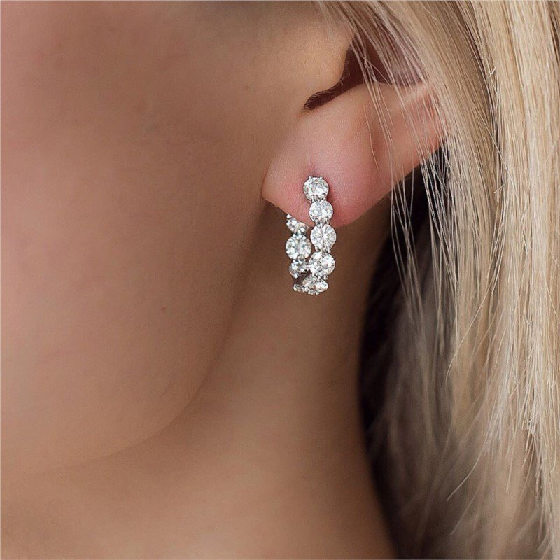 Gumuchian New Moon Diamond Earrings