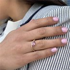 Parlé Lotus Garnet Ring