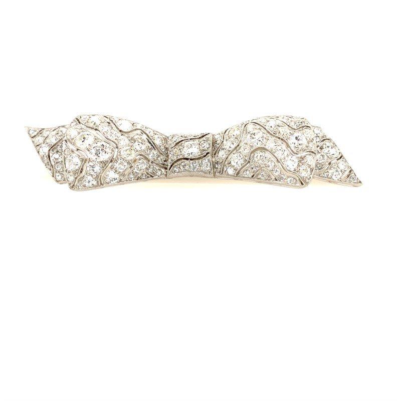 Signature Estate Art Deco Diamond Brooch