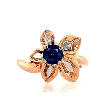 Sapphire Flower Ring