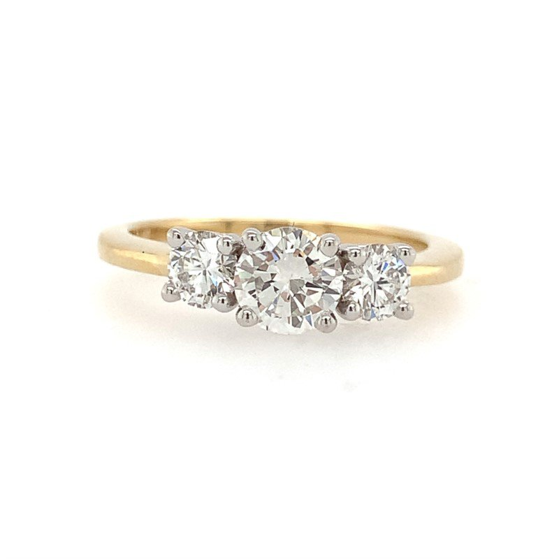 Moses Signature Three Stone Ring