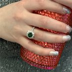 Coast Diamond Tsavorite Garnet Ring