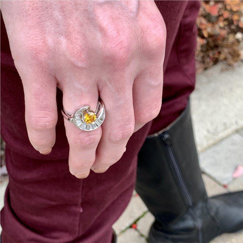Signature Estate Yellow-Orange Diamond Ring