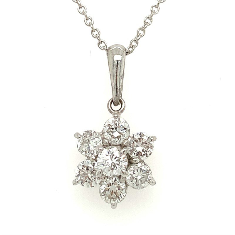 Signature Estate Flower Diamond Necklace