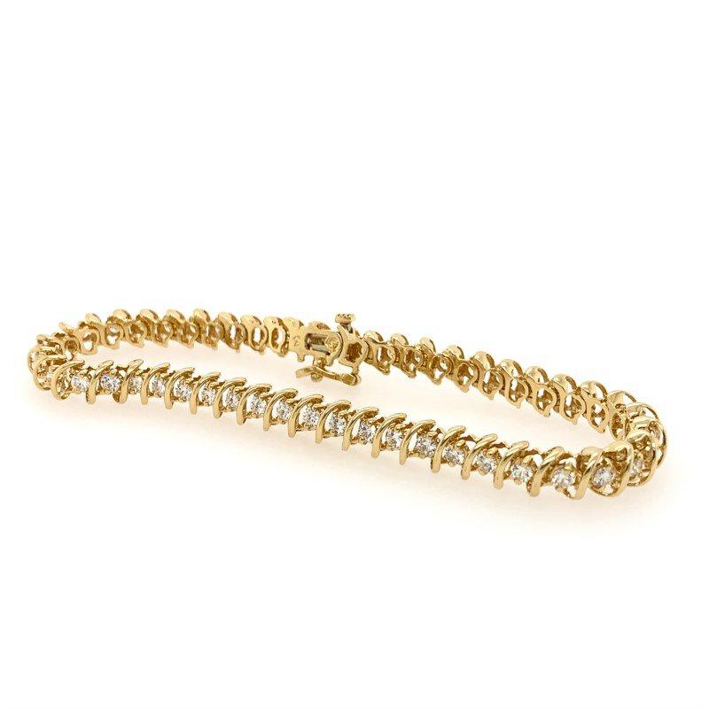 Signature Estate Diamond 'S' Link Bracelet
