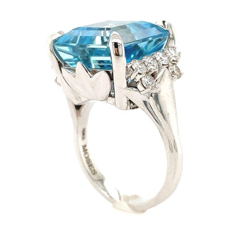 Moses Signature Aquamarine Ring