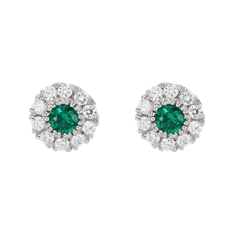 Wear-EVERY-Where Emerald & Diamond Studs
