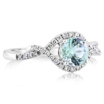 Mint Garnet Ring