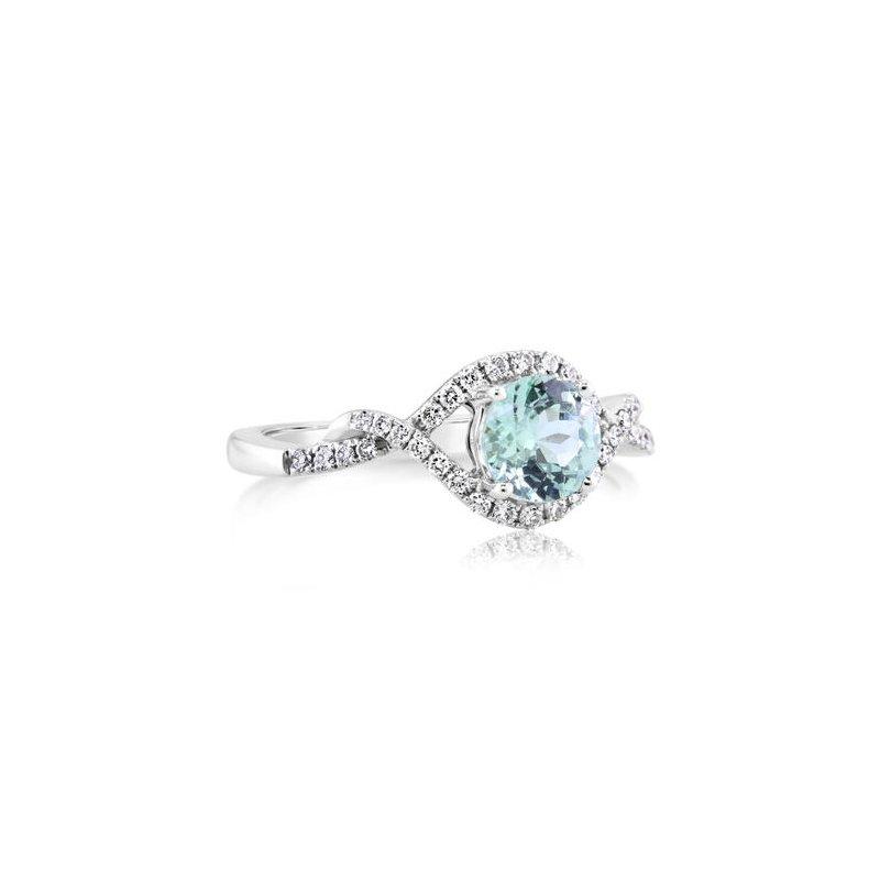 Parlé Mint Garnet Ring