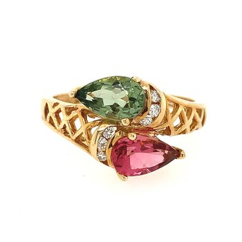 Tourmaline Bypass Ring