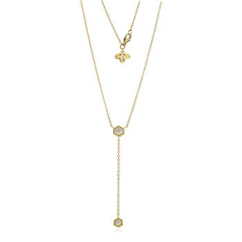 Mini B Lariat Diamond Necklace