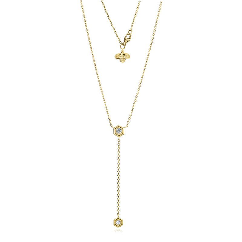 Gumuchian Mini B Lariat Diamond Necklace