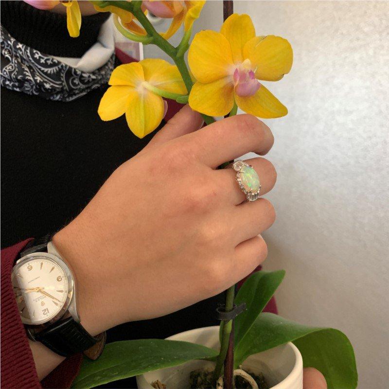 Signature Estate Authentic Art Deco Opal Ring