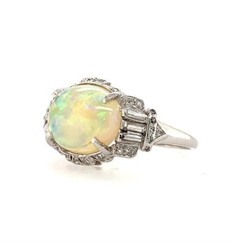 Authentic Art Deco Opal Ring