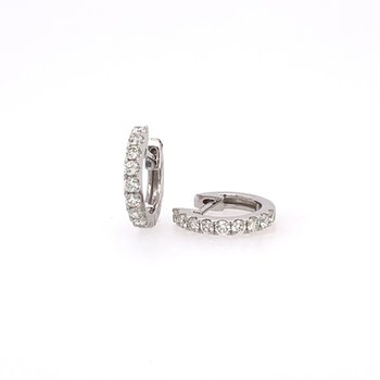 Huggie Diamond Hoops