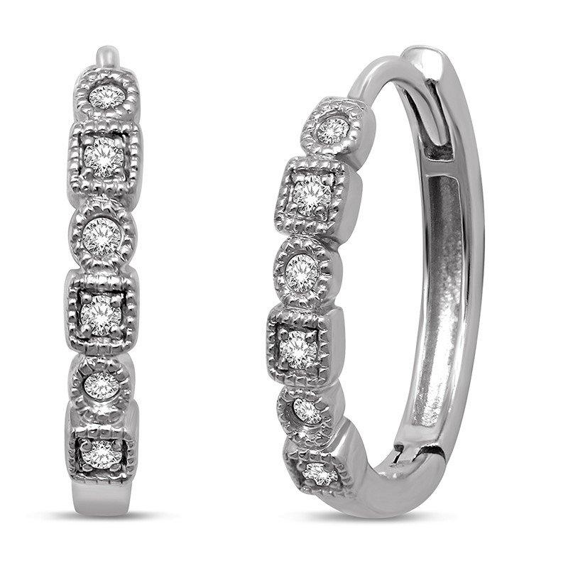 Wear-EVERY-Where Diamond Hoop Earrings