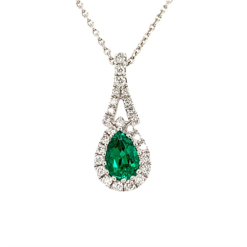 Moses Signature Emerald Necklace