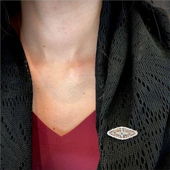 Filigree Bar Pin