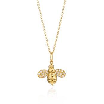 Worker Bee Diamond Necklace