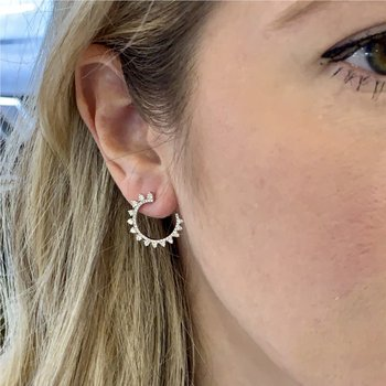 Twist Diamond Hoops