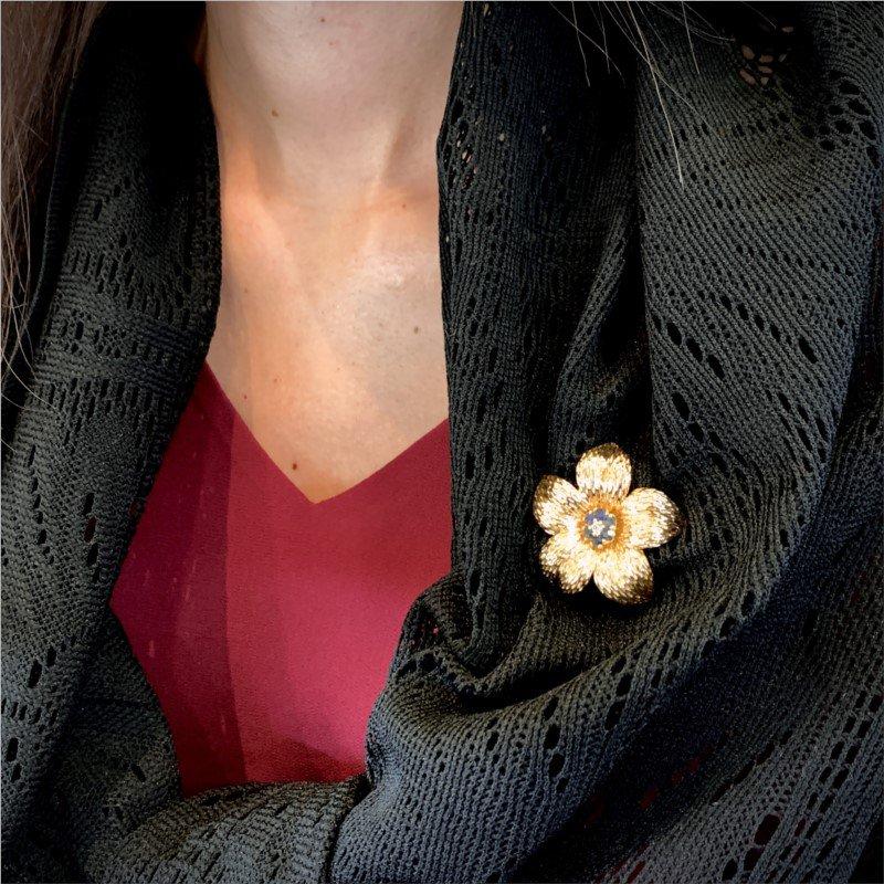 Signature Estate Flower Pin