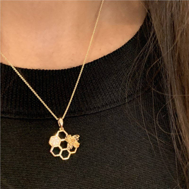Wear-EVERY-Where Honeycomb Necklace