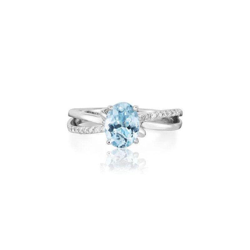Parlé Aquamarine Ring