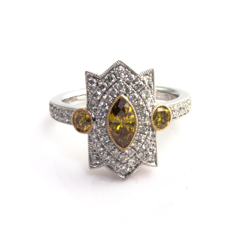 Moses Signature Fancy Brown Yellow Diamond Ring