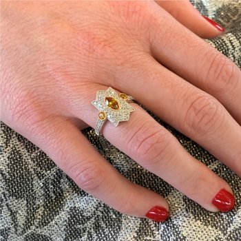 Fancy Brown Yellow Diamond Ring