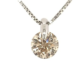 Faint Brown Diamond Necklace