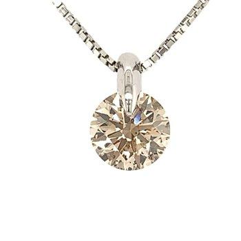 Faint Brown Diamond Necklace