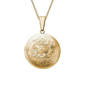 Engraved Locket Necklace