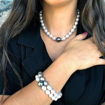 Contrast Accented Tahitian Pearls