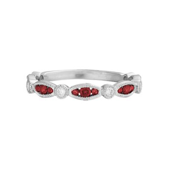 Stackable Ruby Ring