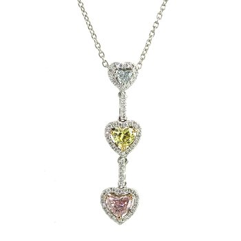 Fancy Color Diamond Necklace