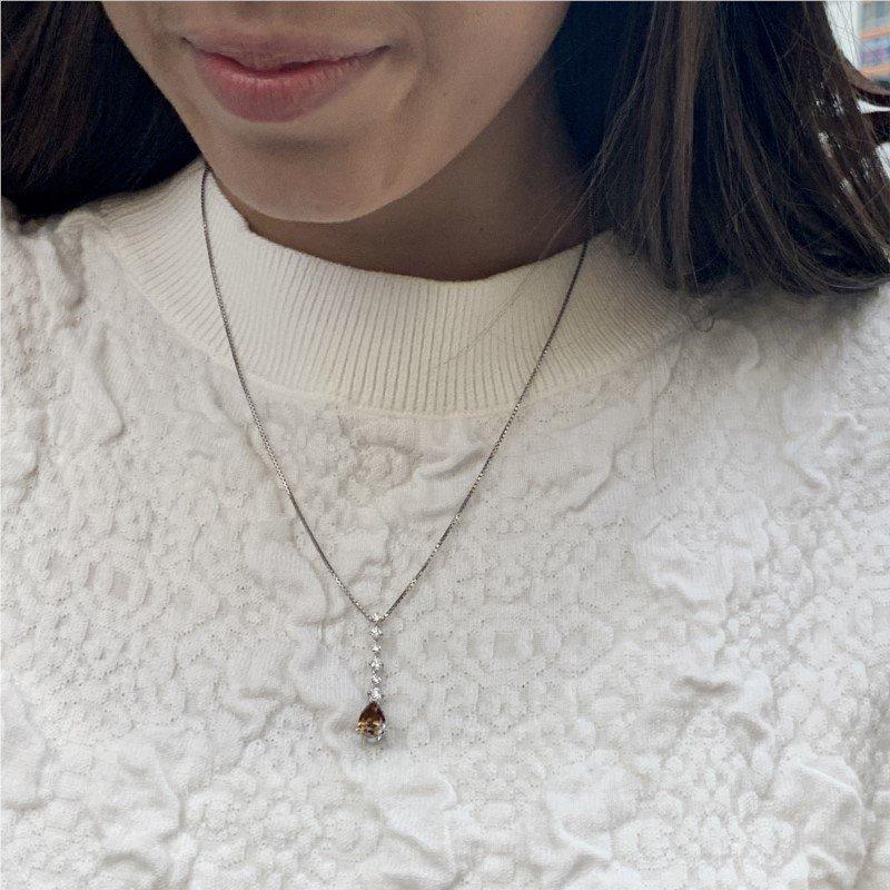 Signature Estate Brown Diamond Necklace